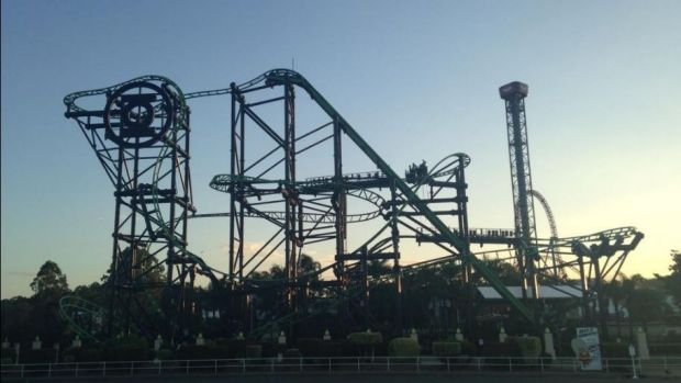 The Green Lantern ride at Movie World.