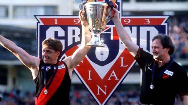 Mark Thompson: Bomber premiership captain in 1993.