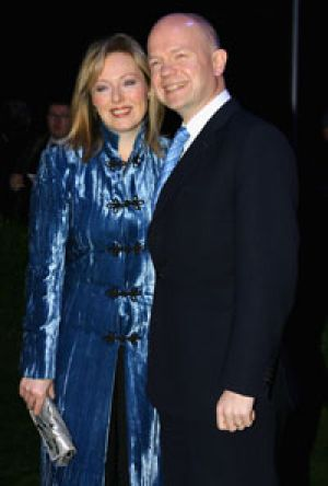 The British Foreign Secretary, William Hague, with his wife, Ffion.