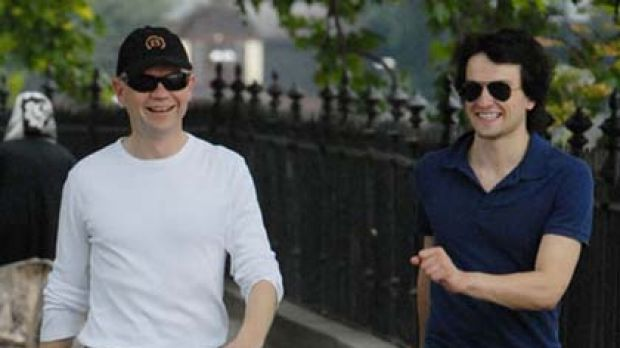 The innocent picture that ignited a homophobic bloggersphere storm...William Hague and Christopher Myer.