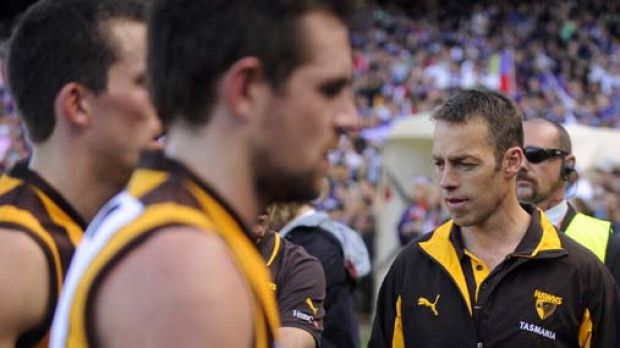 The end: Hawks coach Alastair Clarkson after losing to Fremantle.