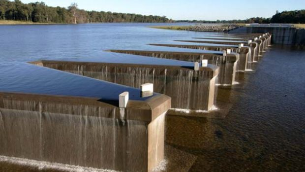 The Grahamstown dam when it was full in 2008.