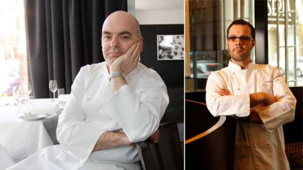 Chef Mark Best in his Surry Hills restaurant, Marque. Left, chef Martin Benn at his restaurant, Sepia.