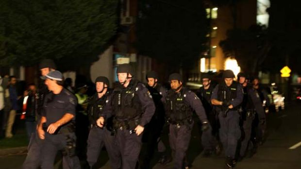 Bankstown siege ...  NSW Police riot squad at the scene.