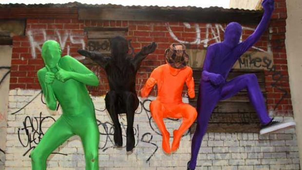 Morphsuit fans embrace their inner superhero. The suits are porous enough to see, breathe and drink through. <i>Picture: ...
