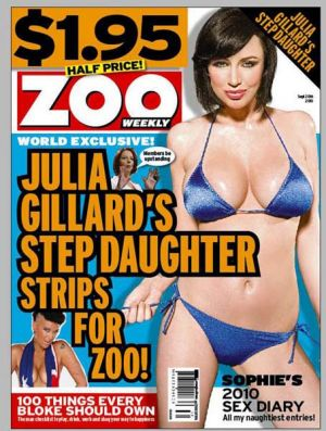Staci Child (bottom left of cover) poses for Zoo Weekly magazine.