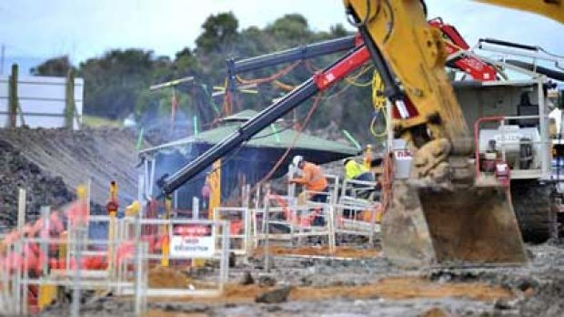 Work continues at the desalination plant near Wonthaggi.