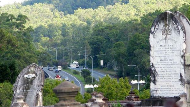 The Northern Link will take traffic underneath the Toowong Cemetery.