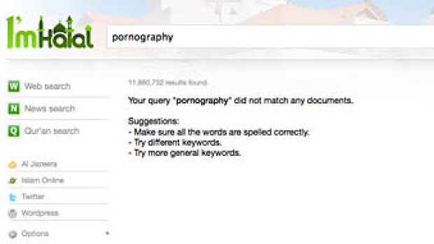 Moral search engines... they don't let you get what you might be seeking.