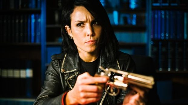 Lisbeth Salander (Noomi Rapace) in The Girl Who Played With Fire.