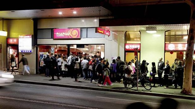 The queue at Mamak in Haymarket regularly extends down the street.
