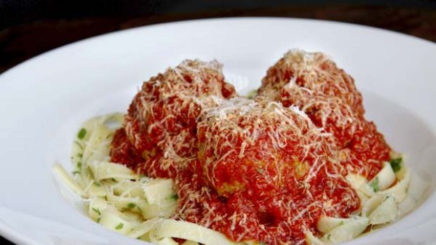 Men are said to cry when they miss out on Cafe Sopra's meatballs.