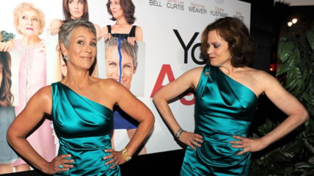 Resisting plastic surgery pressure ... Jamie Lee Curtis and Sigourney Weaver.