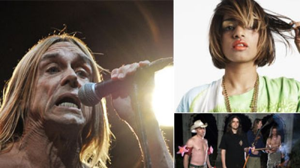 Headliners ... Iggy Pop (above) is back as are Tool (below right), while M.I.A is one of the few women appearing.
