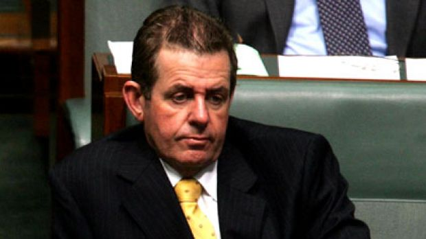 Peter Slipper during Question Time in 2005.