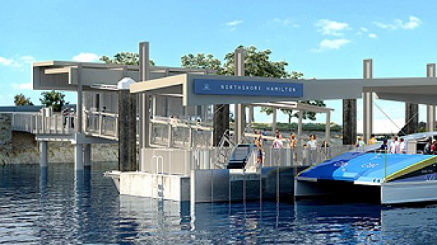 The design of the new CityCat terminal apparently reflects a shipping container.