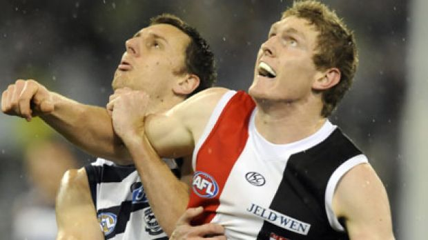 Ben McEvoy (right) comes into the St Kilda team in Saturday's grand final replay, replacing the injured Michael Gardiner.