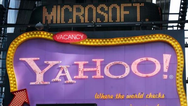 Yahoo! in management turmoil as three executives leave.
