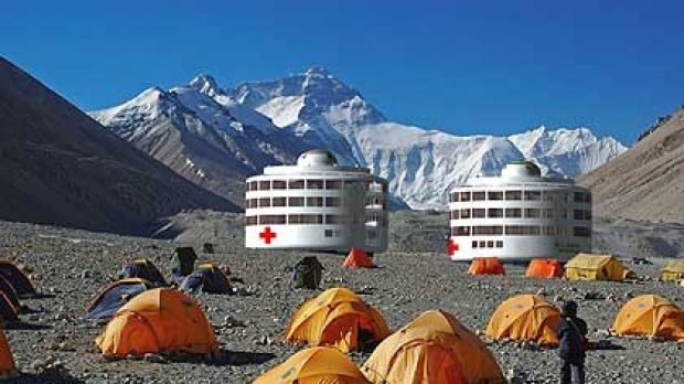 Hospitals can be flown in and dropped in crisis-hit areas.