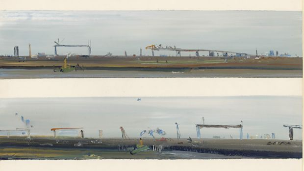 'West Gate Bridge', by Fred Williams, 1970. This is one of many paintings and drawings by the Victorian artist of the ...