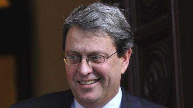 Former Herald Sun Editor Bruce Guthrie after winning his court case.