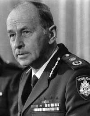 A 1987 picture of Victorian Police Chief Commissioner Mick Miller.
