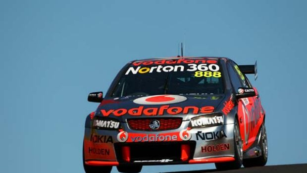 Craig Lowndes drives the #888 Team Vodafone Holden.