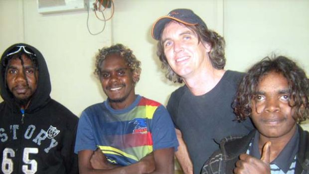 L-R: Turlku 4 musicians Lemih Thompson, Mitaki Ward, John Gordon and Dixon Bell - all from Wanarn community.