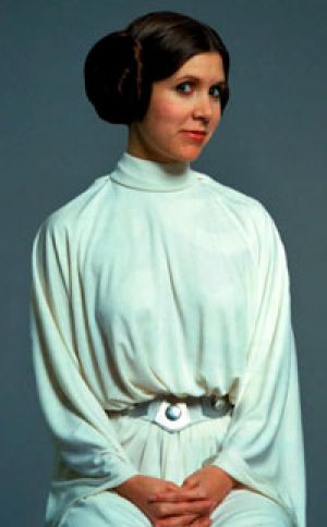 Jilted widow? ... Carrie Fisher as Princess Leia.