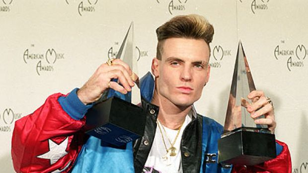 Vanilla Ice at the height of his music career.