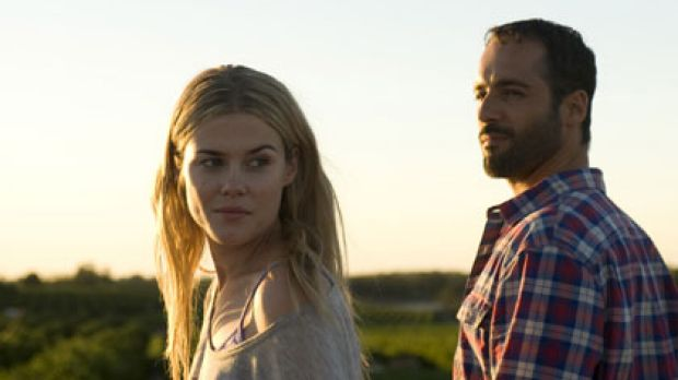 A man suddenly struck with the realisation that life may be about to smile on him again ... Rachael Taylor and Alex ...