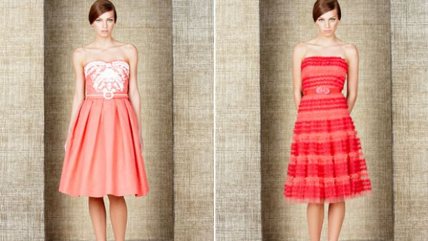 Prom-style dresses courtesy of Collette Dinnigan.