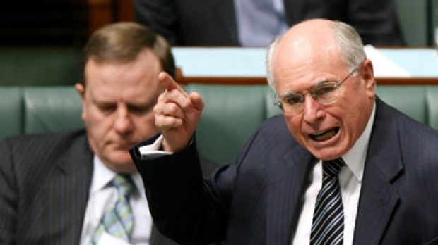 Team of rivals ... John Howard's first public criticism of his long-serving deputy threatens to damage the former prime ...