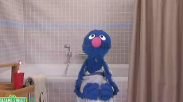 Grover spoofs the Old Spice ad for Sesame Street.