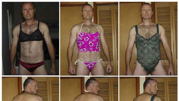 Split personality ... Colonel Russell Williams poses in stolen lingerie. He has received the strongest sentence under ...