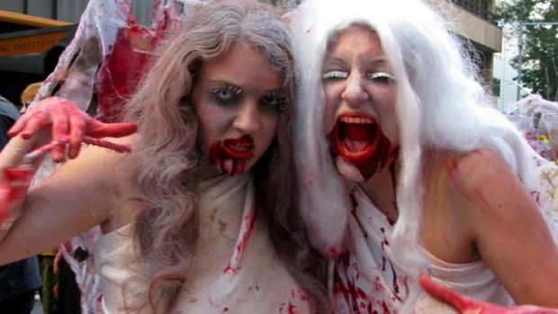 Brisbane's undead wander the streets.