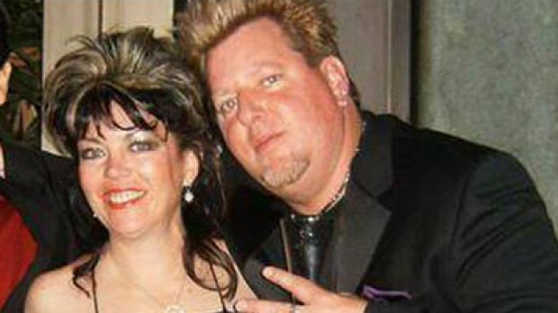 Joe Finley, right, with wife Laura, who was found dead.