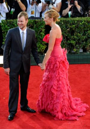 Toni Collette and Dave Galafassi at the 2009 Emmy Awards.