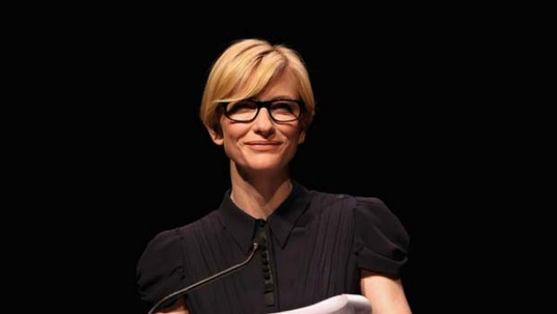 Star power ... nominations presenter Cate Blanchett.