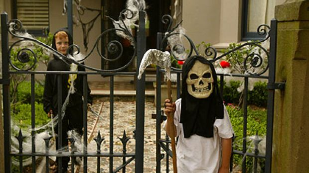 Yes, Americans celebrate Halloween. Because it's fun.