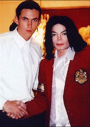 Matt Fiddes with his former client Michael Jackson.