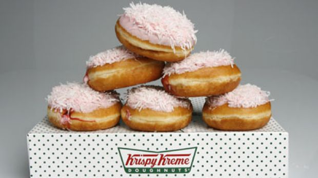 The Iced Dough Vo, a tribute to the famed Iced VoVo and part of a so-called 'Fair Dinkum' range of Krispy Kreme ...