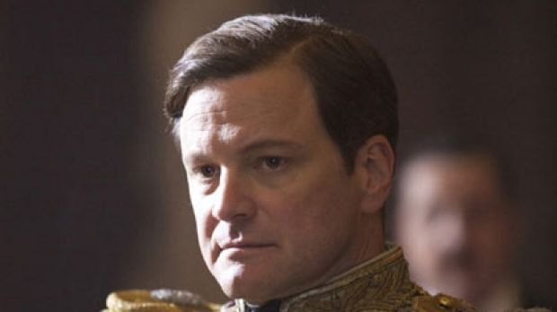 Colin Firth as King George VI in <i>The King's Speech</i>.
