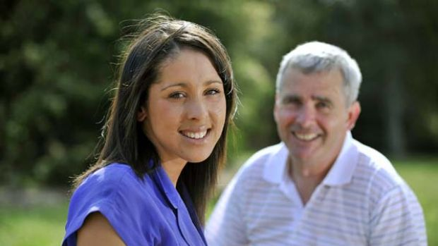 Symone Anstis and her father, Michael, after their High Court win.