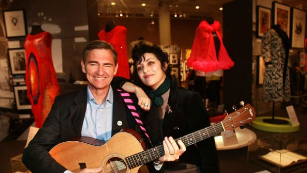 Wild horses: Premier John Brumby, with musician Monique Brumby (no relation), will no doubt get a lifetime backstage ...