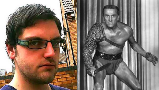 I am Spartacus ... Paul Chambers, left, and Kirk Douglas as Spartacus.