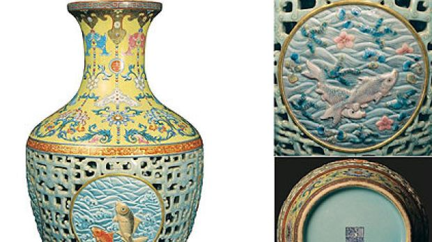 Ker-Qing! ... The Qinglong vase was found during a routine house clearance.