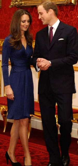 Engaged ... Britain's Prince William and Kate Middleton.