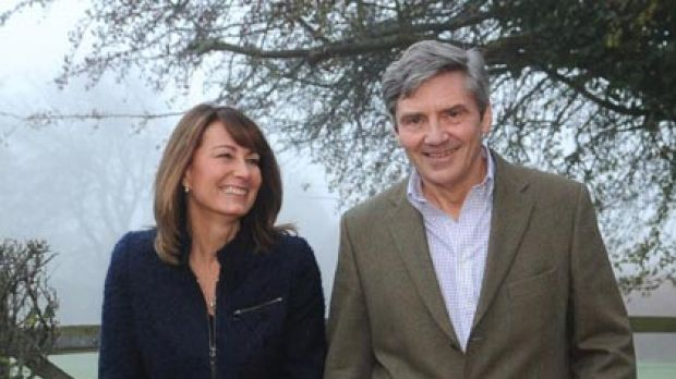Like mother, like daughter ... Kate's parents, Michael and Carole Middleton.