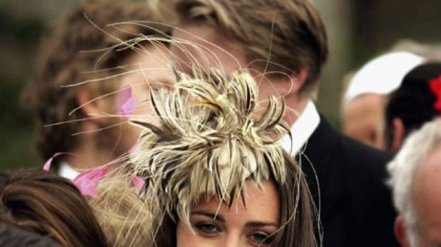 Passion for fascinators ... Kate Middleton's trackside style draws flack.